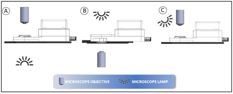 Outline of optical microscopes compatible with microheat accessory